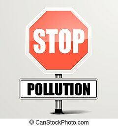 Roadsign Stop Pollution