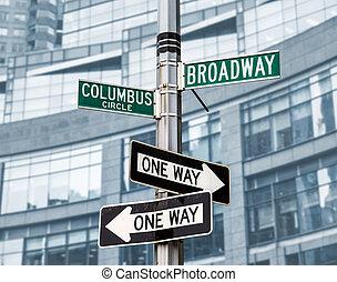 roadsigns, em, nyc