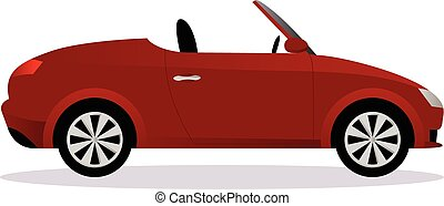 Roadster car body type vector illustration