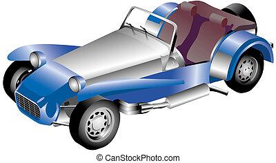 Roadster - illustration on antique roadster automobile