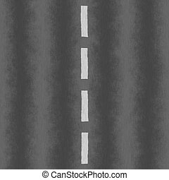 An empty roadway texture with a white dotted line dividing the two lanes.