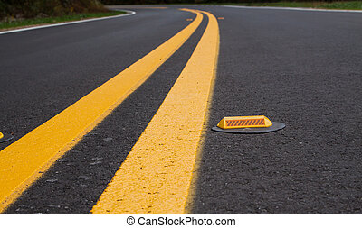 Roadway devider lines and markers