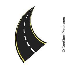 roadway landscape isolated icon vector illustration design