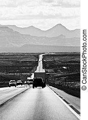 Roadway Through the Remote Utah Wilderness