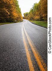 Roadway - Winding road uphill