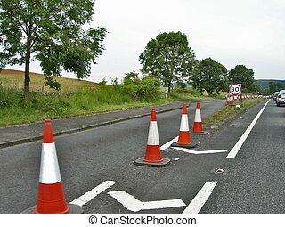 Roadwork cones & signs 2