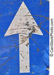 Roadworks, road sign