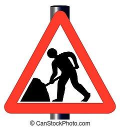 Roadworks Traffic Sign