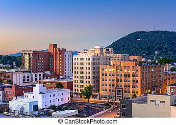 Roanoke Virginia Cityscape - Roanoke, Virginia, USA downtown...