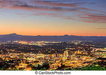 Roanoke, Virginia Skyline