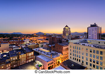 Roanoke, Virginia Skyline - Roanoke, Virginia, USA downtown...