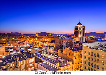 Roanoke, Virginia, USA downtown skyline.