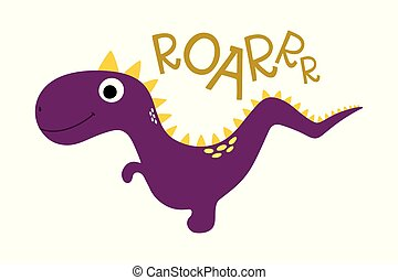 Roar. Cute dinosaur