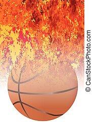 Roaring Flaming Basketball