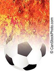 Roaring Flaming Soccer Ball