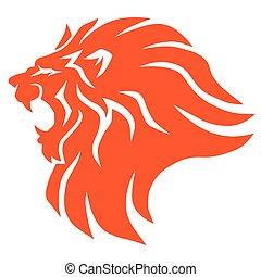 Roaring Lion Head Logo Vector Icon Design