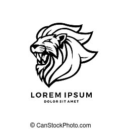 roaring lion logo king vector download