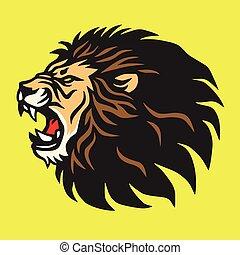 Roaring Lion Logo Mascot Vector Design Template