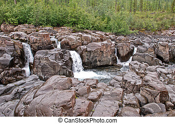 waterfalls on the river
