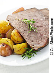 Roast beef and potatoes