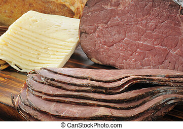 Roast beef and swiss cheese