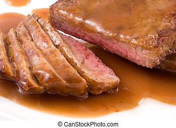 Close-up of a roast beef