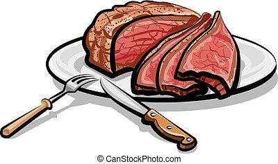 roast beef meat