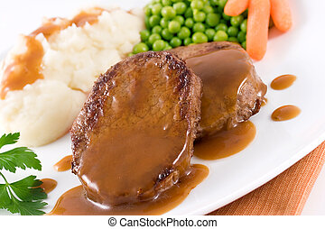 Roast beef steak