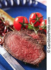 Roast beef - Slices of roast beef - detail
