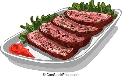 roast beef with sauce
