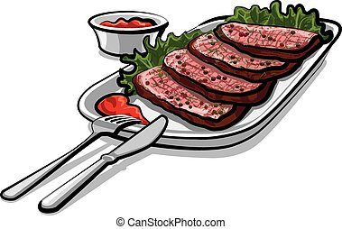 roast beef with sauce - roastbeef with sauce