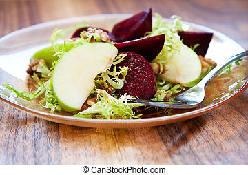 Roast Beet and Apple Salad - Roast beets, apples, walnut,...