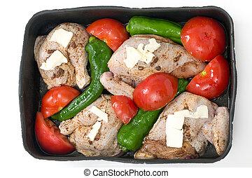 Roast chicken mediterranean style