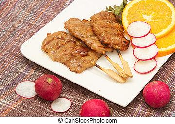 roast pork on a plate