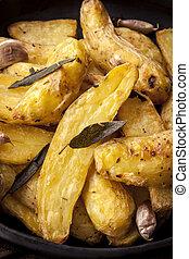 Roast Potatoes with Sage Garlic and Herbs