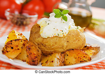 Roasted and baked potato