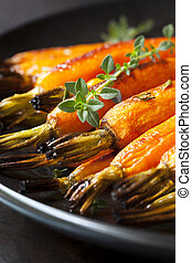 Roasted Baby Carrots with Thyme