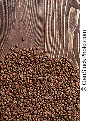 Roasted brown coffee beans