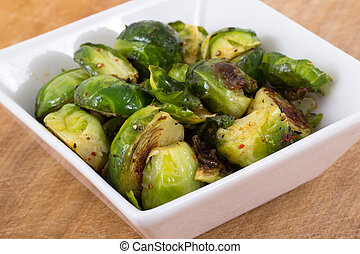 roasted brussels sprouts with olive oil