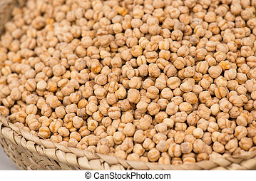 Roasted Chick Peas On The Market