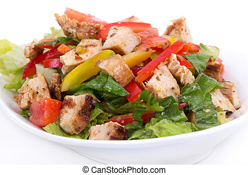 roasted chicken summer salad
