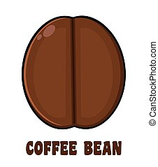 Roasted Coffee Bean Cartoon