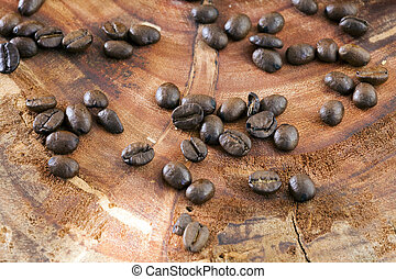 Roasted coffee bean, coffee from Brazil.
