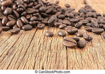 Roasted coffee beans background