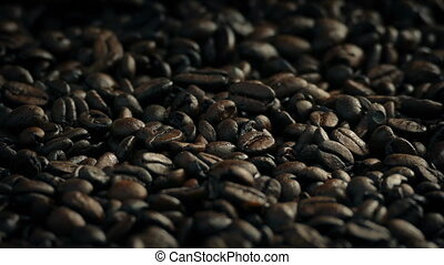 Roasted Coffee Beans - Closeup of roasted coffee beans...