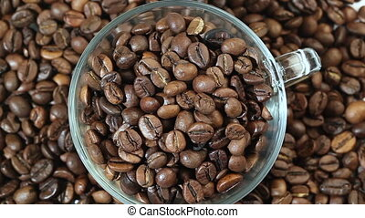 Roasted Coffee Beans in a Cup