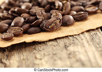 coffee beans on parchment