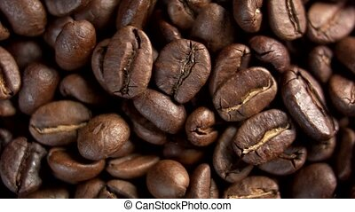 Roasted Coffee Beans, rotation. - Roasted Coffee Beans,...