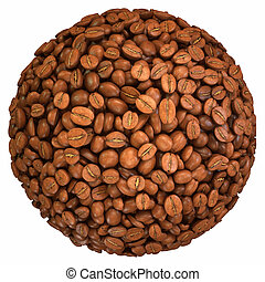Roasted Coffee Beans Sphere