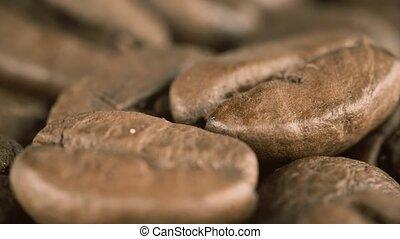 Roasted coffee beans, super macro shot